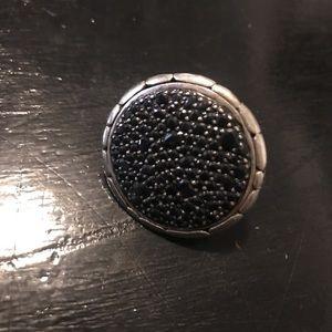 Black Sapphire Lava Ring ⚜